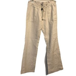 ROXY BEACH PANTS - 55% Linen- New With Tags